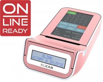 Kasa fiskalna ELZAB K10 3K różowy/biały ONLINE READY